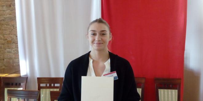 Daria Cieślak ponownie wyróżniona